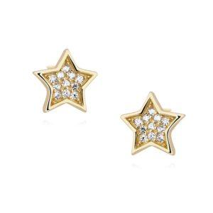 Gwiazdki z cyrkoniami pozłacane
