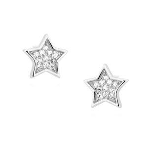 Gwiazdki z cyrkoniami srebrne